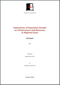 Implications of Population Growth on Infrastructure and Resources in Regional Cities v2