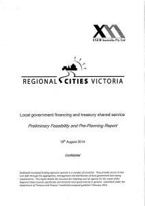 treasury pre-planning report